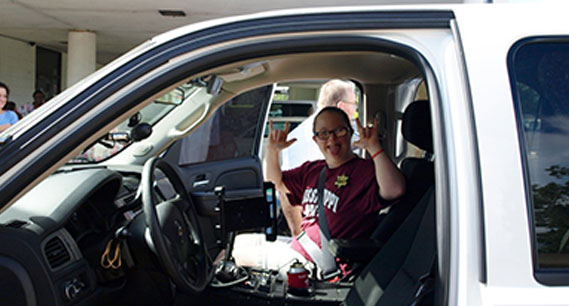 "Brandi's Hope Individuals in Natchez are treated to a ""VIP"" police car ride."